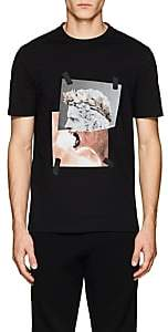 "Neil Barrett Men's ""Roman Lion"" Cotton Jersey T-Shirt - Black"