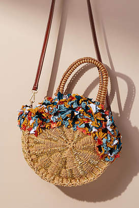 Anthropologie Kiran Straw Tote Bag