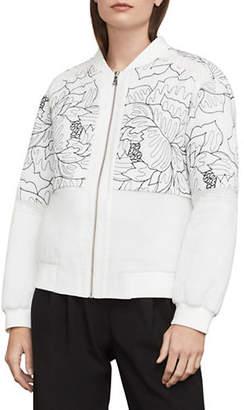 BCBGMAXAZRIA Tessa Embroidered Bomber Jacket