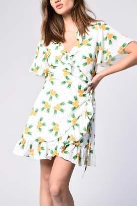 Glamorous Pineapple Wrap Dress