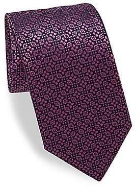 Charvet Men's Alternating Patterned Silk Tie