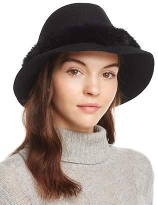 Eric Javits Bunny Fur Trim Hat