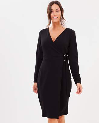 Dorothy Perkins Ring Wrap Body-Con Dress