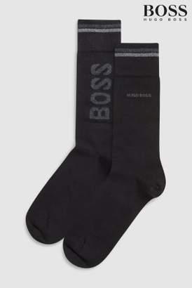 Next Mens BOSS Logo Socks Two Pack