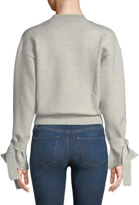 Tularosa Suzanne Tie Bell-Sleeve Crop Sweater