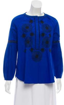 Tory Burch Long Sleeve Tunic Top