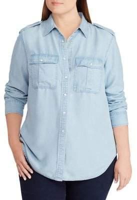 Lauren Ralph Lauren Plus Chambray Shirt