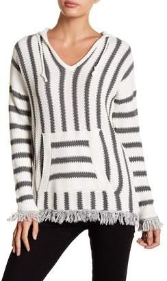 Elan International Hooded Long Sleeve Striped Sweater