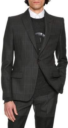Alexander McQueen Glen Plaid Wool Sport Coat, Multicolor