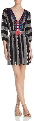 Piper Ramones Embroidered Lace-Up Dress $198 thestylecure.com