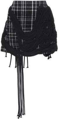 Vera Wang checked mini skirt