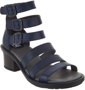 Fly London Leather Multi Strap Heeled Sandals - Ceda