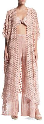 Miguelina Priscilla Lace Kimono Coverup