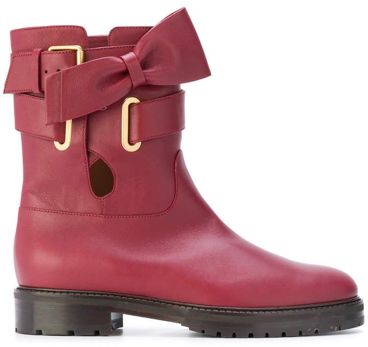 Valentino Garavani bow detail ankle boots