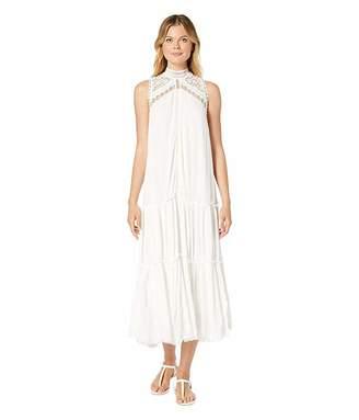 American Rose Alyssa Sleeveless Dress with Crochet Detail