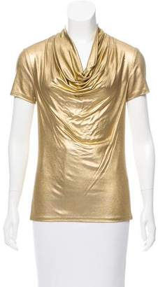 Trina Turk Metallic Short Sleeve Top