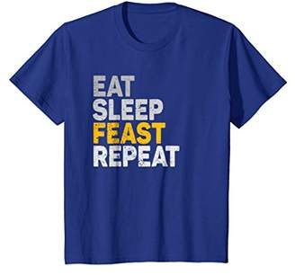 Eat Sleep Feast Repeat Funny Holiday T-Shirt