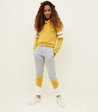 New Look Girls Grey Colour Block Joggers