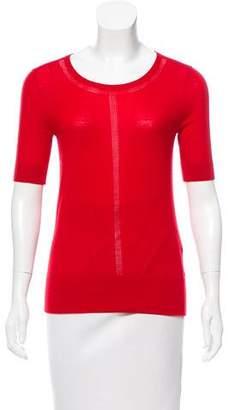 Rena Lange Wool Short Sleeve Top w/ Tags