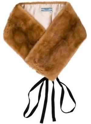 Prada Silk-Lined Mink Fur Collar