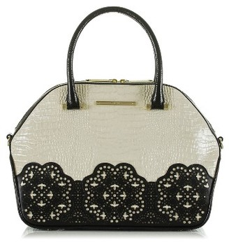 Brahmin Magnolia - Hudson Leather Satchel - Black $445 thestylecure.com