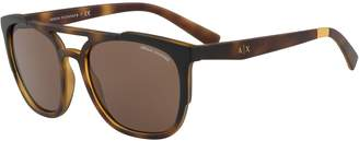 Armani Exchange Men's Forever Young 56mm Round Sunglasses
