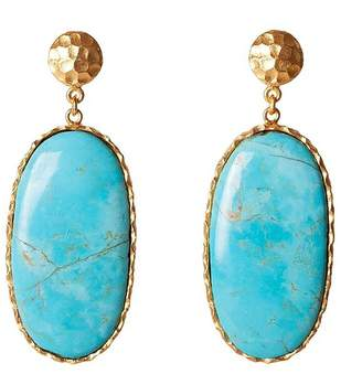 Christina Greene - Large Drop Earrings in Turquoise