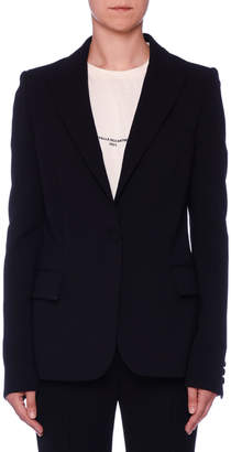 Stella McCartney Fitted One-Button Classic Wool Blazer