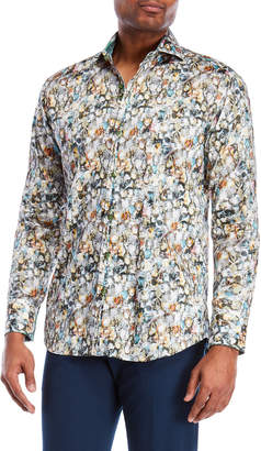 Bogosse David Jewel Printed Sport Shirt