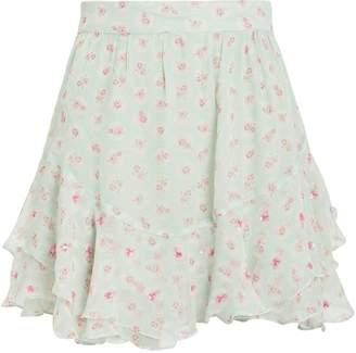 HEMANT AND NANDITA Sana Floral Mini Skirt