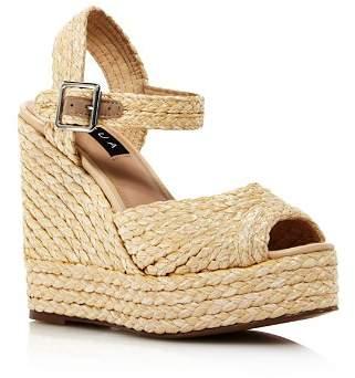 Aqua Rose Rafia Wedge Espadrille Sandals - 100% Exclusive
