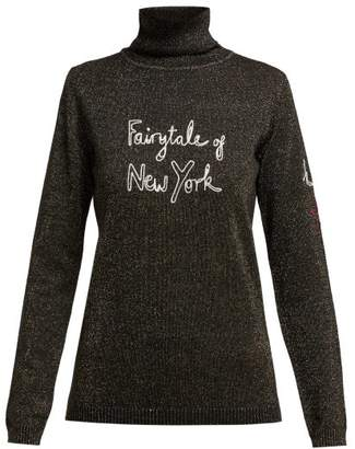 Bella Freud X Kate Moss Fairytale Of New York Sweater - Womens - Black Gold