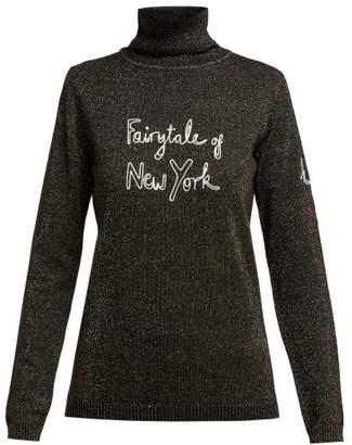 Bella Freud X Kate Moss Fairytale Of New York Sweater - Womens - Black Gold