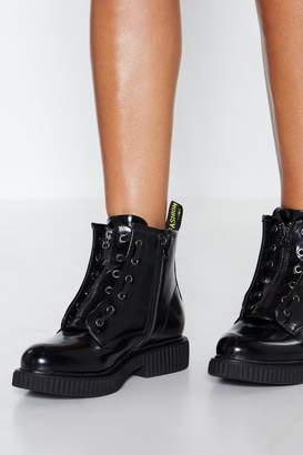 Nasty Gal Keep It Zipped Patent Boot