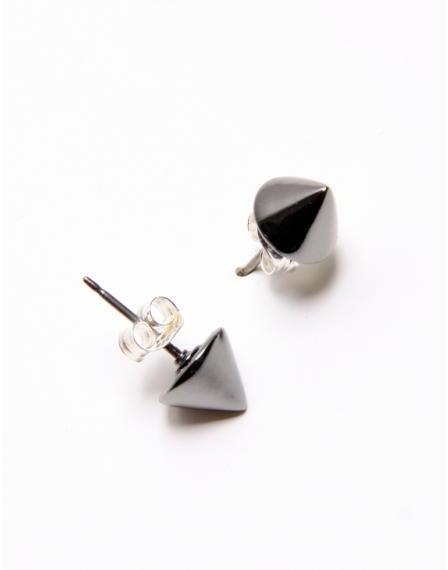Bing Bang By Anna Sheffield Gunmetal Vivienne Tiny Studs