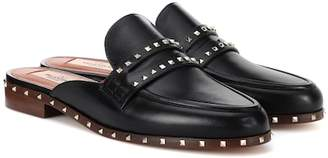 Valentino Soul Rockstud leather slippers