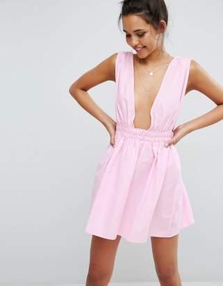 ASOS Beach Skater Dress in Seersucker $35 thestylecure.com