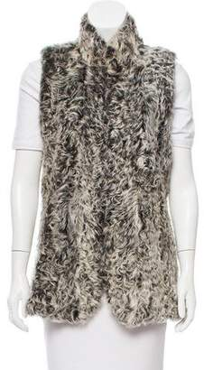Theory Shearling Open Front Vest