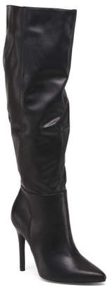 Pointy Toe Wide Calf Knee High Boots