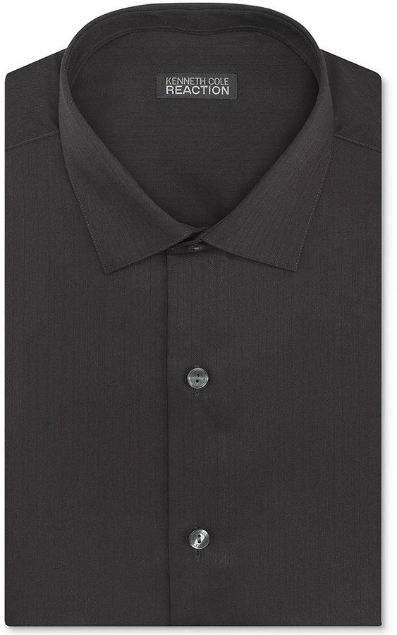 Kenneth Cole Reaction Dress Shirt, Tonal Stripe Long-Sleeved Shirt