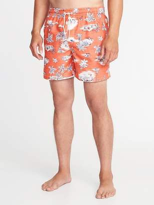 """Old Navy Printed Swim Trunks for Men (6"""")"""