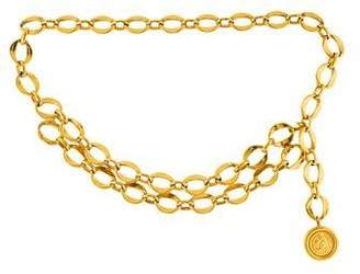 Chanel Medallion Chain-Link Belt
