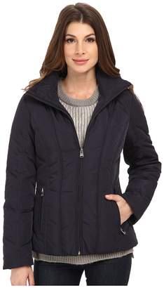 Calvin Klein Short Down Coat w/ Untrimmed Hood Women's Coat