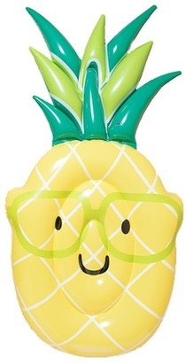 ANKIT HOME Yellow & Green Pineapple Emoji Pool Float $29.99 thestylecure.com