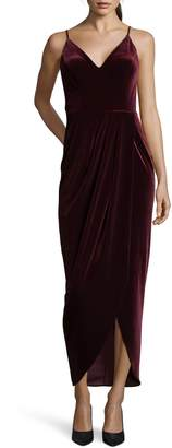 Xscape Evenings Velvet Tulip Hem Gown