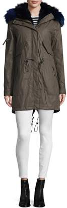 SAM. New York Women's Luxe Limelight Fox Fur-Accented Parka