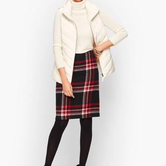 Talbots Wool Blend A-Line Skirt - Plaid