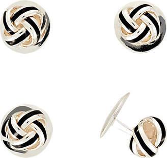 Deakin & Francis Men's Knot Shirt Studs - Silver
