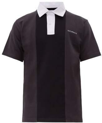 Saturdays NYC Jake Cotton Polo Shirt - Mens - Grey
