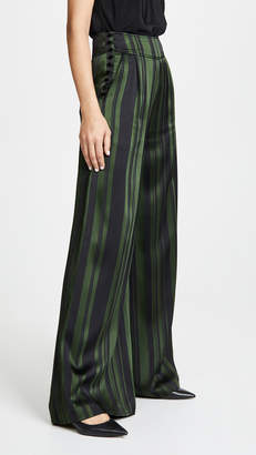 Adeam Buttoned Wide Leg Pants